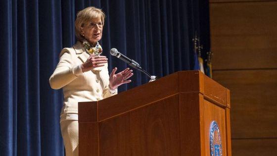 Whitman addresses cadets 16x9